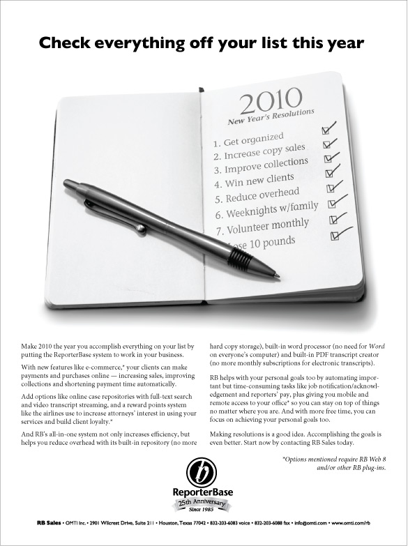 January 2010 ReporterBase ad