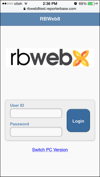 RB Web on mobile devices with RB Web Mobile On plugin