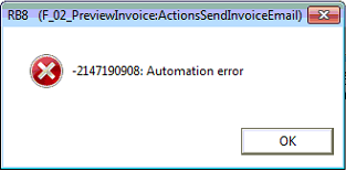 invoice error message
