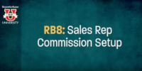 RB8 Sales Rep Commission Setup